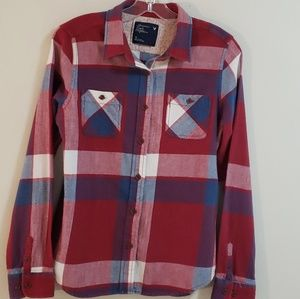 American Eagle Outfitters Plaid Flannel Shirt Sz12